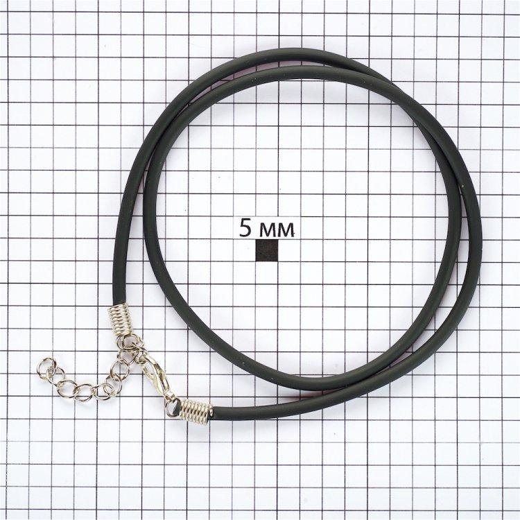 Основа для кулона чёрная поливинилхлорид 3 мм