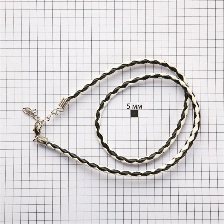 Готова основа для прикрас - браслет чорно-білий