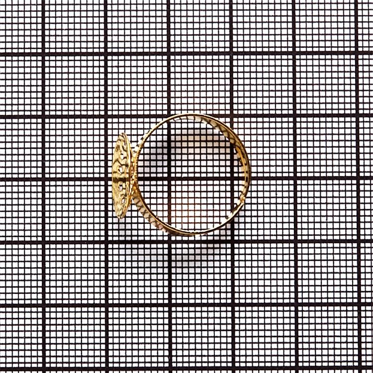 Основы для колец. Золотой. Диаметр 14 мм.