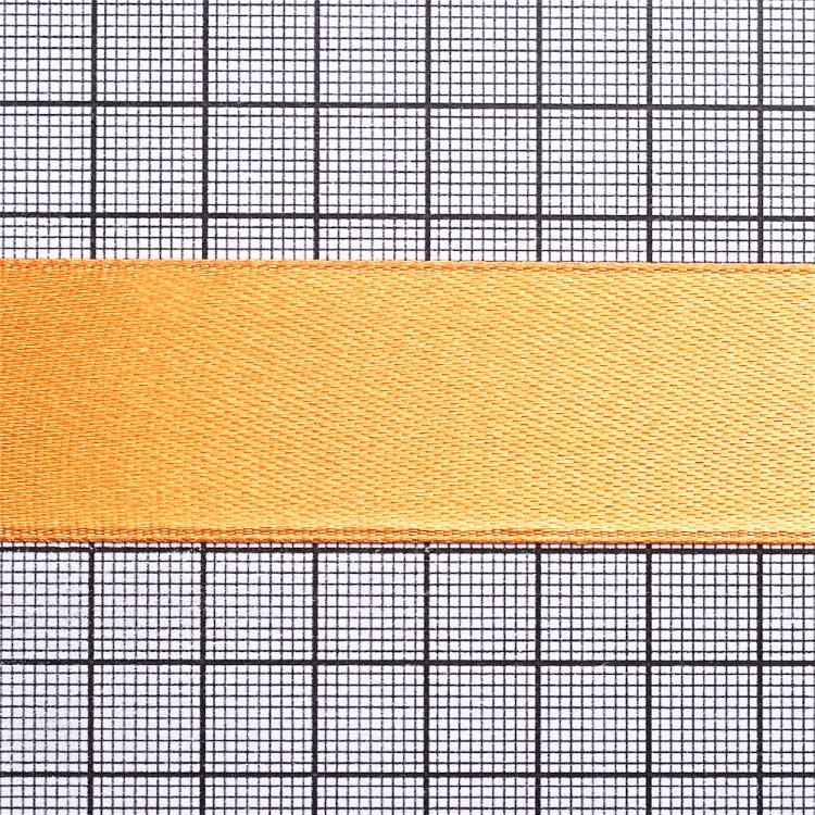 Лента атласная 25 мм оранжевая