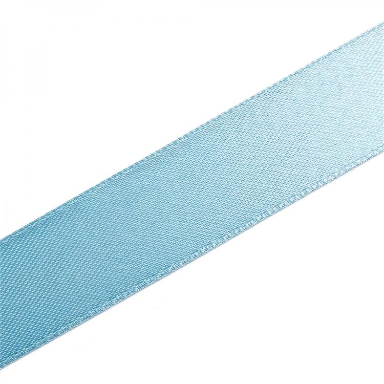 Лента атласная 20 мм голубая