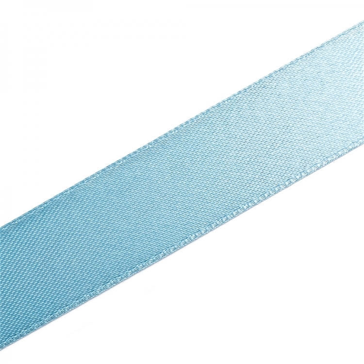 Стрічка атласна 20 мм блакитна