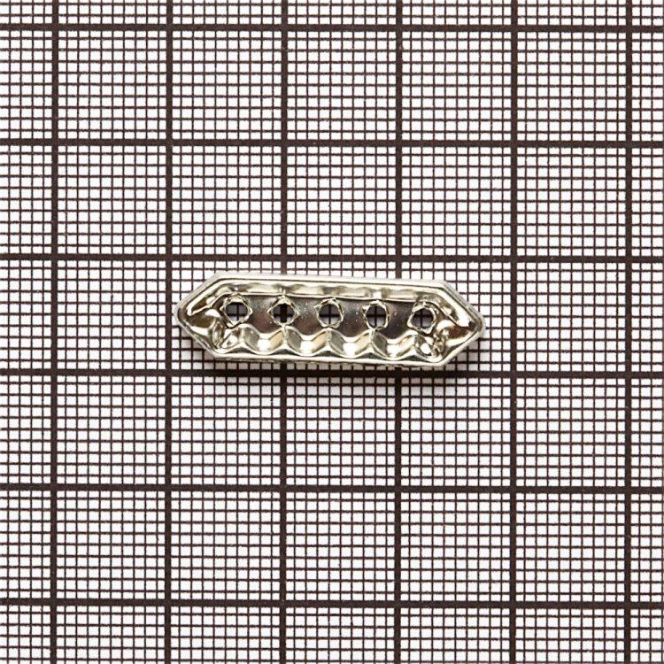 Планка, разделительный элемент со стразами серебристый