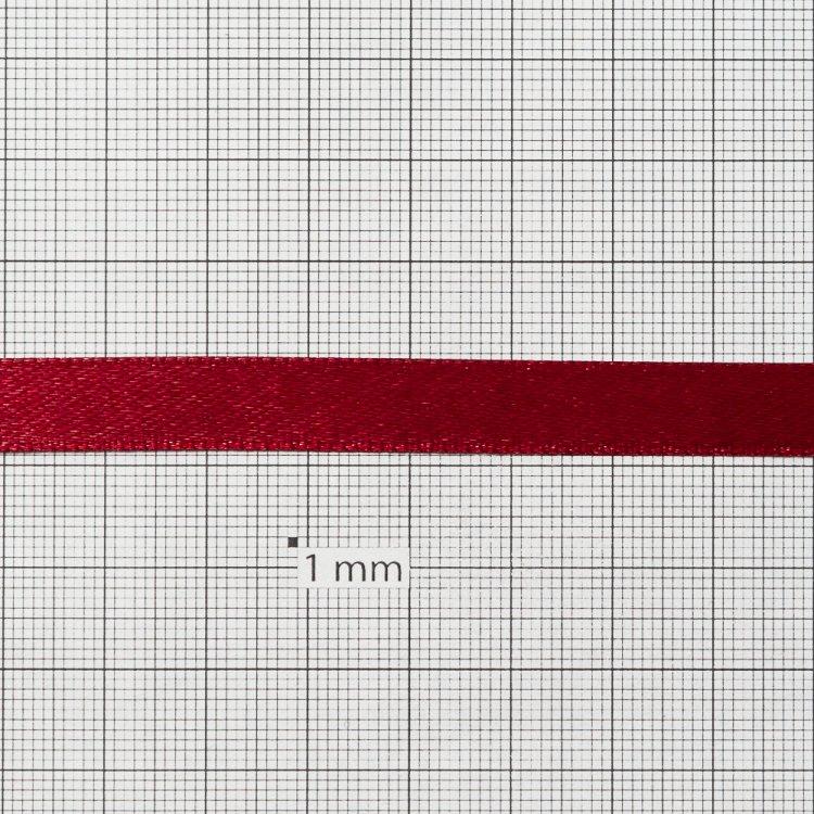 Лента атласная 10 мм вишневая