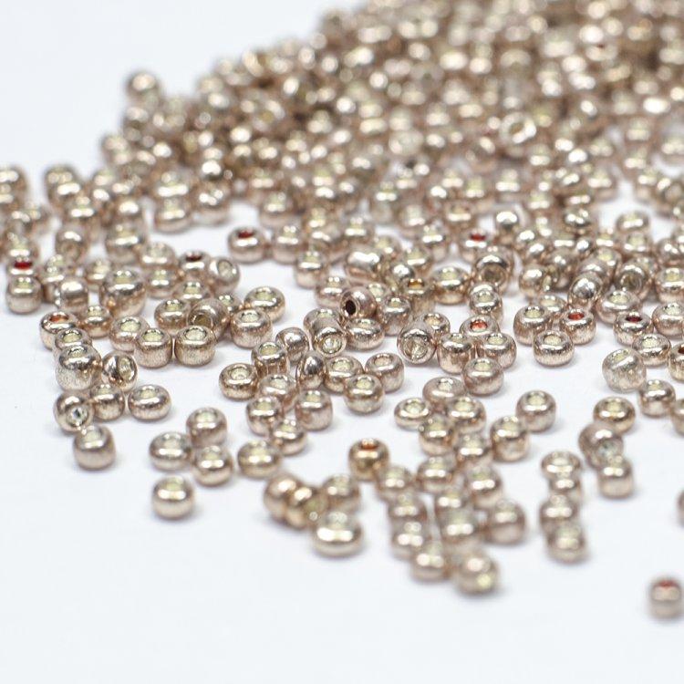 Бисер металлизированный золотистый