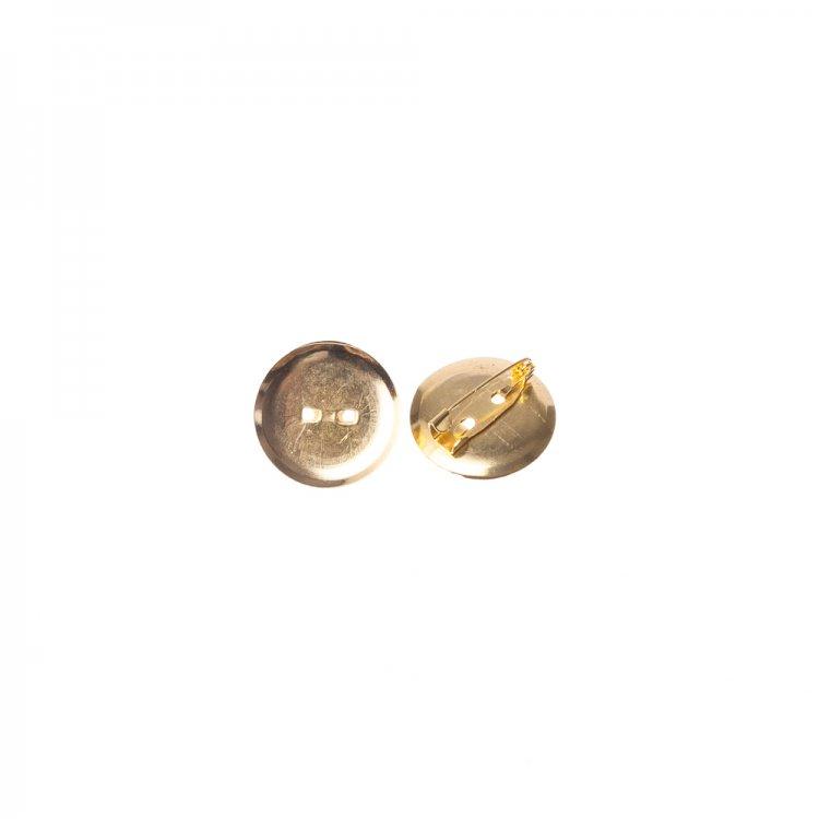 Основа для броши круглая клеевая, золото, 30 мм