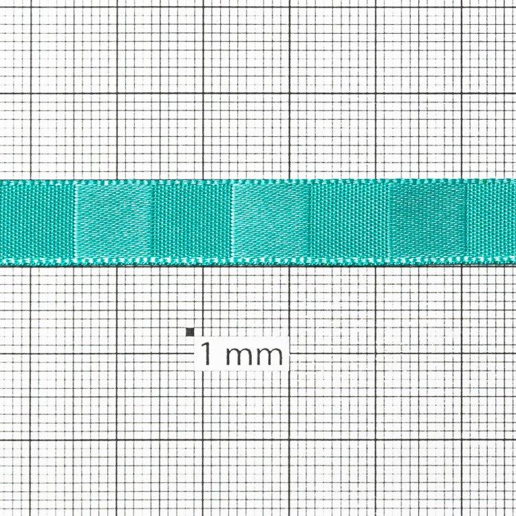 Лента атласная 10 мм полосатая мятно-бирюзовая