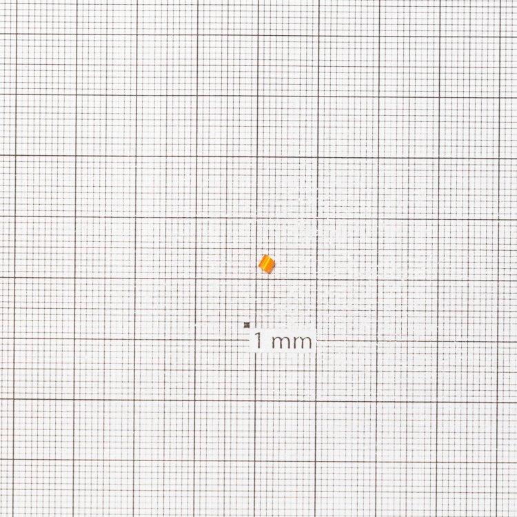 Бисер-рубка оранжевый 2.1 мм сольгель стекло