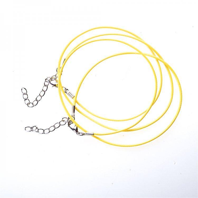 Шнур для кулона, бавовняний, жовтий