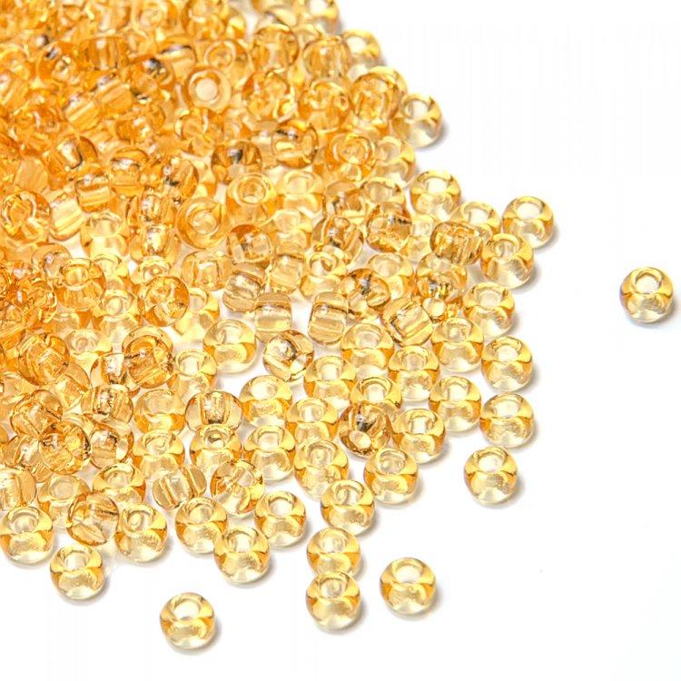 10020 чешский бисер Preciosa 5г  золотой