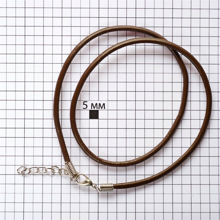 Основа для кулона коричнева шкірзам 3 мм