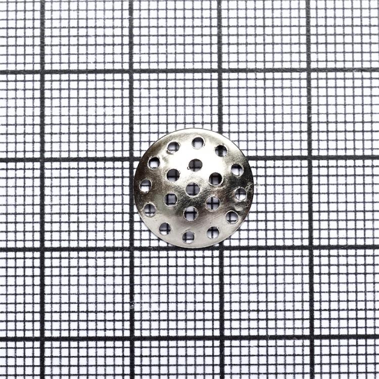 Решетчатые основы для брошей, мельхиор, 14 мм