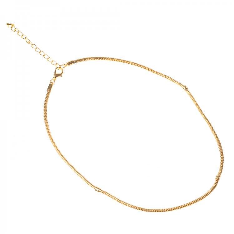 Основи для бус. Золотий. Довжина 45 см, діаметр 3 мм.