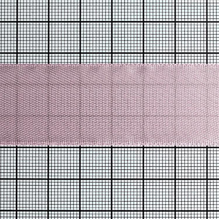 Стрічка атласна 25 мм рожева
