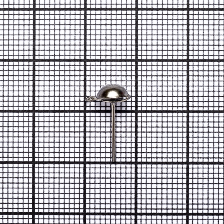 Основа для сережок гвоздик темно-сталева