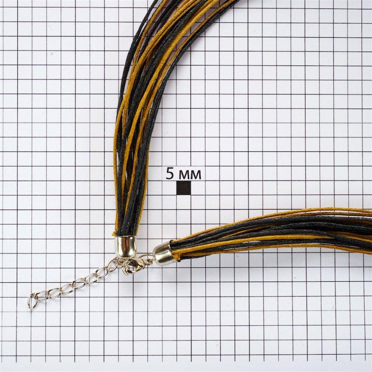 Основа для кулона – 20 нитей, хлопок, коричневые и чёрные
