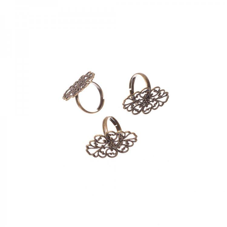 Медное кольцо основа для украшения ажурное