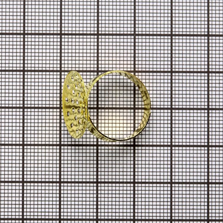 Основы для колец. Золотой. Диаметр 18 мм