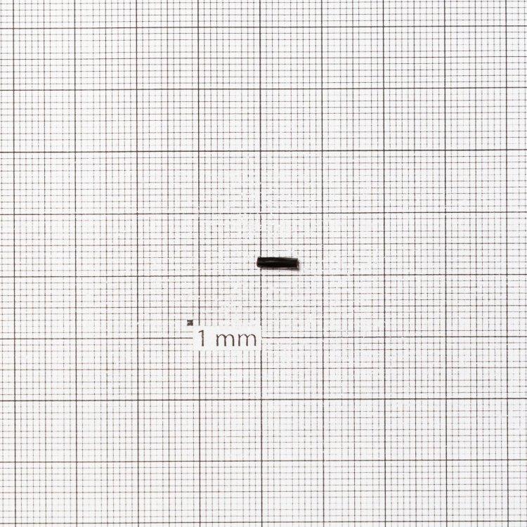 Бисер-стеклярус витой черный 6 мм