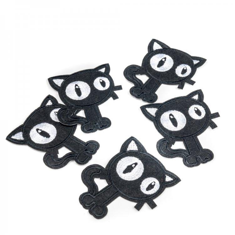 Тканевая нашивка Черный кот
