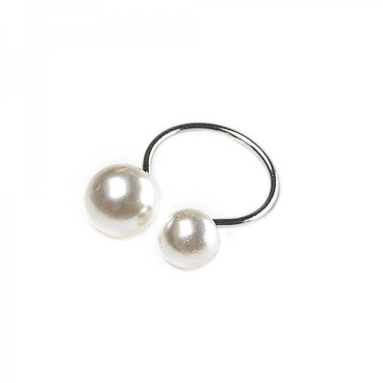 Металическое кольцо с жемчужинами