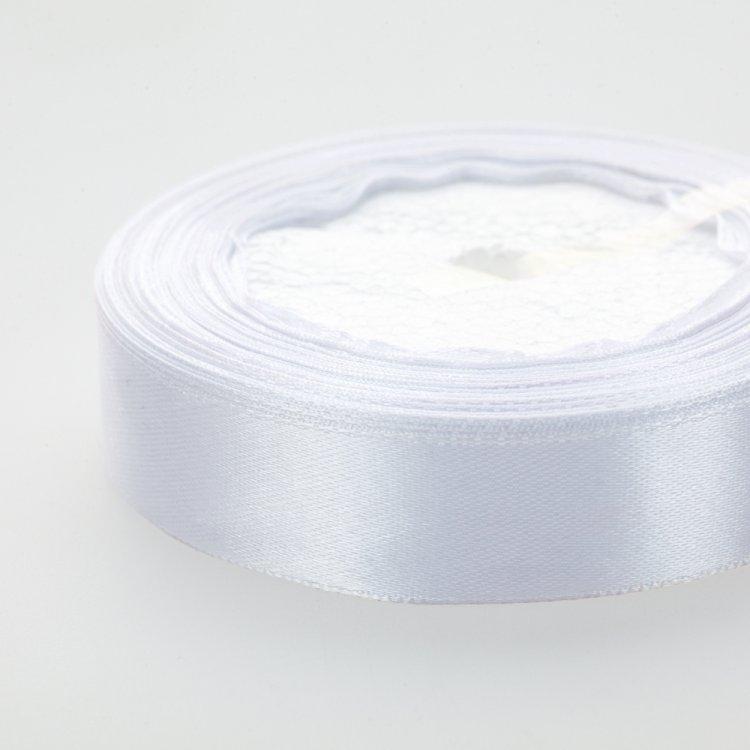 Стрічка атласна 20 мм біла