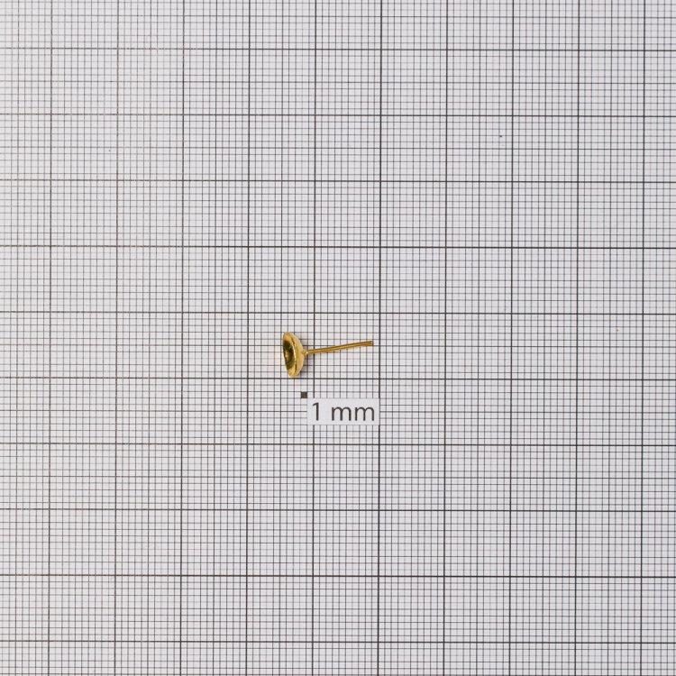 Основа для сережок гвоздик 7 мм золота