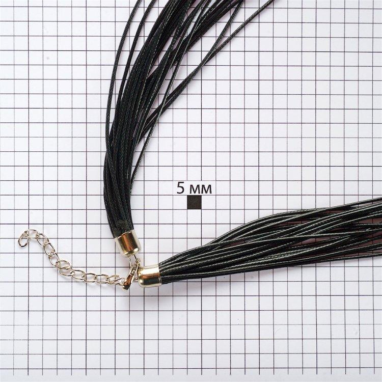 Вощёный шнур – 20 нитей, полиэстер, чёрный