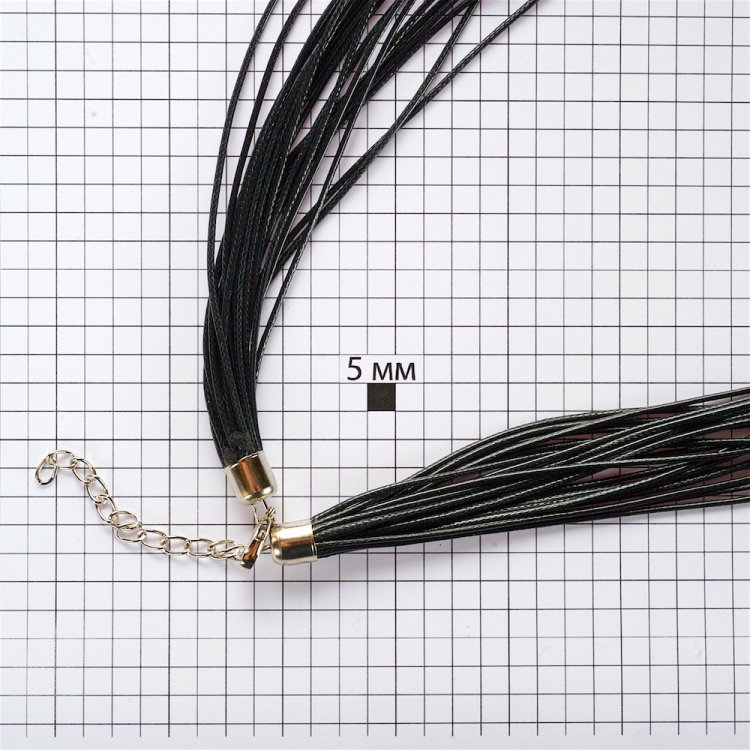 Вощений шнур – 20 ниток, поліестер, чорний