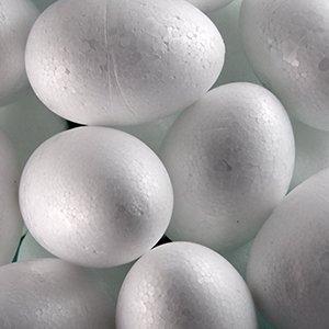 Пенопластовая заготовка яйцо. Диаметр 45 мм, длина 70 мм. Белый.