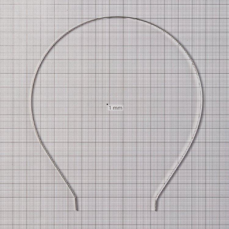 Основа для обручей. Мельхиоровый. Ширина 5 мм