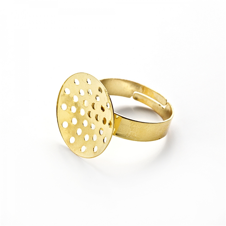 Основи для кілець. Золотий. Діаметр 18 мм