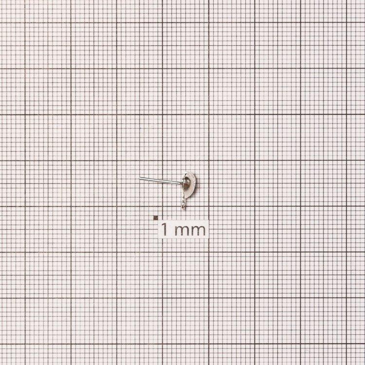 Основа для сережок гвоздик серце срібляста