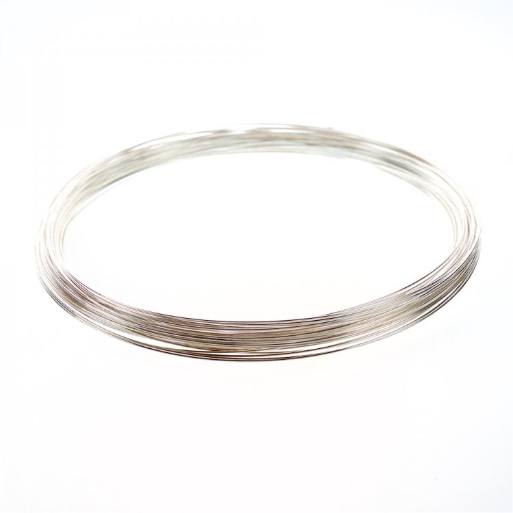 Основа-проволока з пам'яттю, для намиста. Срібло. Діаметр 120 мм, товщина 0,7 мм.