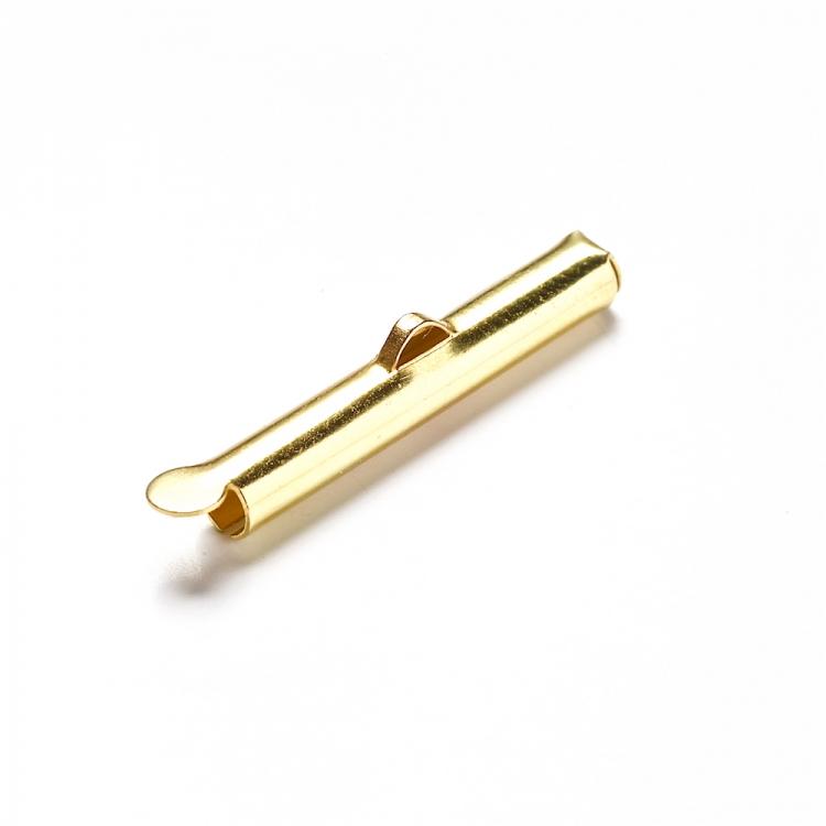 Зажимы для лент и основ золотой 25 мм