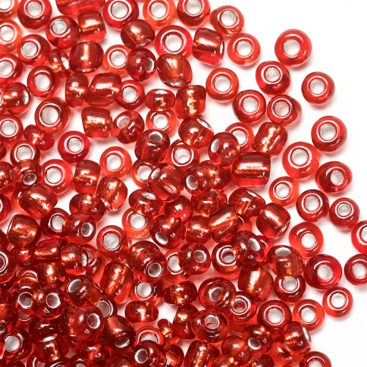 Бисер круглый, мелкий, красный. Калибр 12 (1,8 мм)