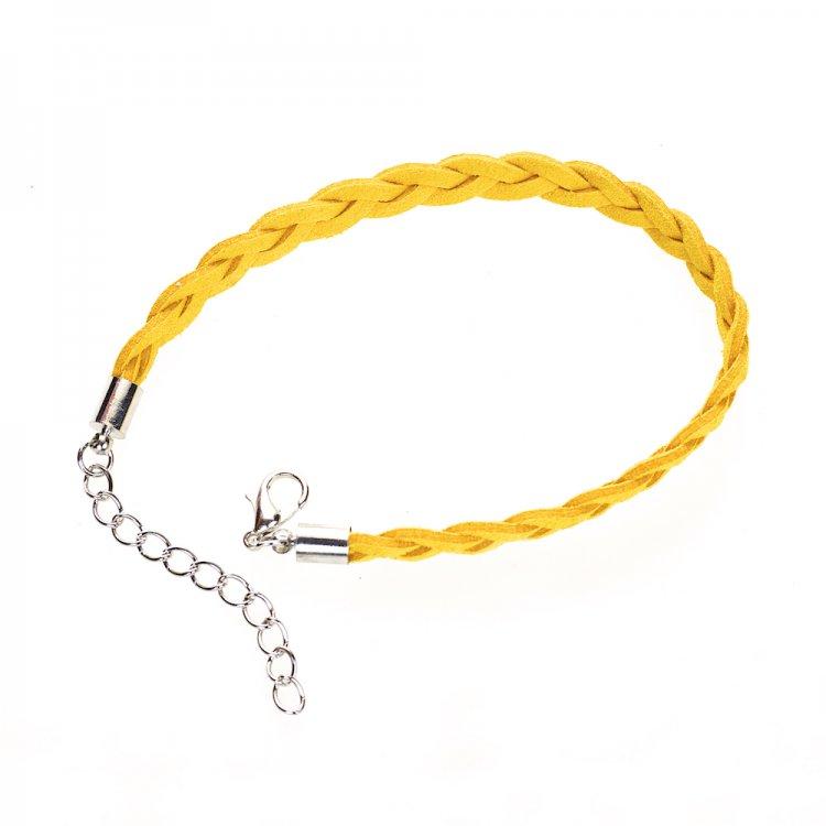 Шнур для браслета, замша, жёлтая