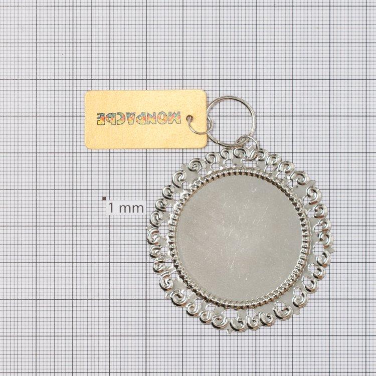 Кругла основа для вклеювання кабошонов, діаметр 50 мм