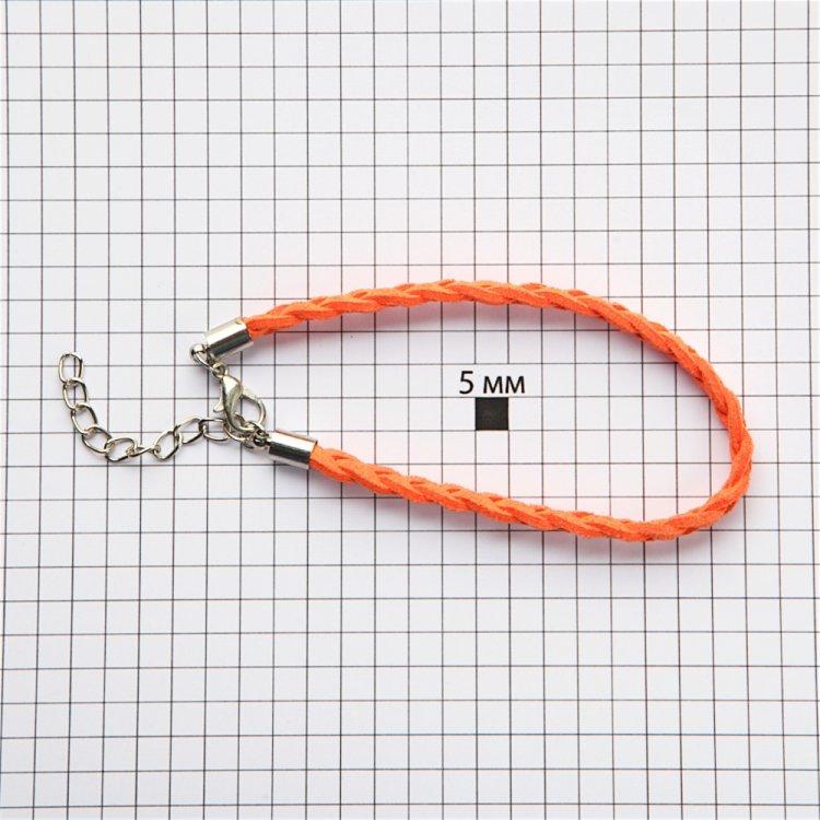 Гот.осн.для браслета замшеві плетені кіски помаранчева