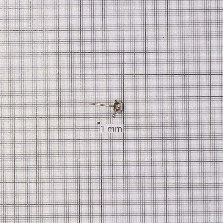 Основи для сережок. Мельхіоровий. Діаметр 5 мм.