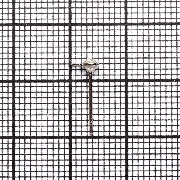 Основа для серег гвоздик со стразом мельхиоровая