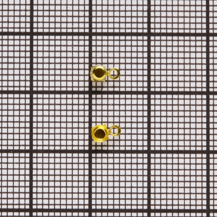 Основы для страз конических. Золотой. Диаметр 3 мм.