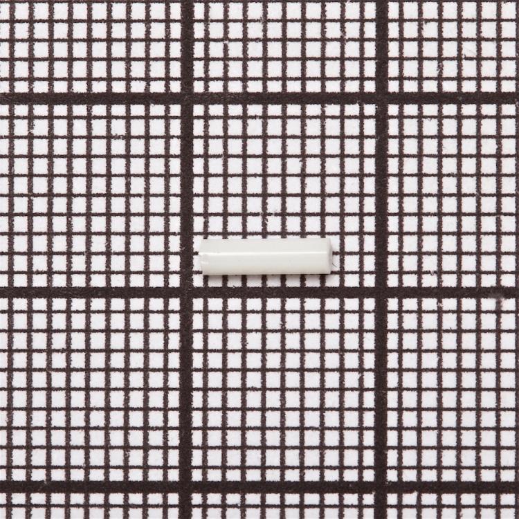 Бисер стеклярус. Белый. 6 мм.