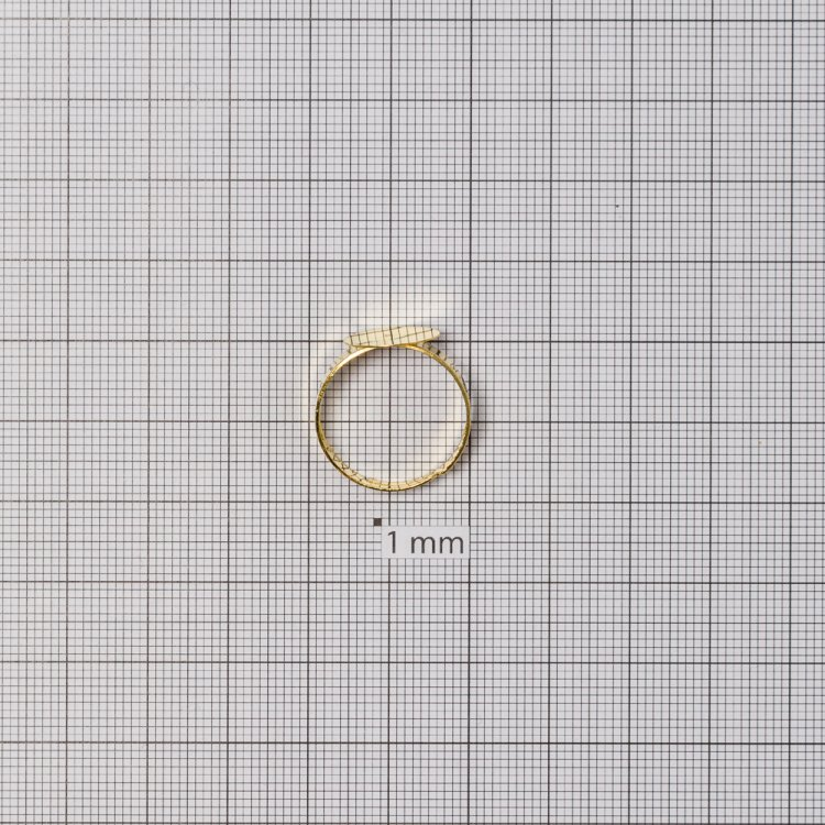 Основи для кілець. Золотий. Діаметр 12 мм.