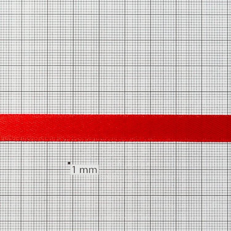 Лента атласная 10 мм красная