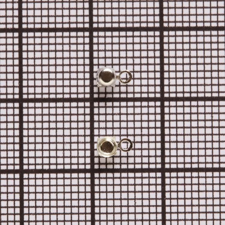 Основы для страз конических. Серебристый. Диаметр 3 мм.