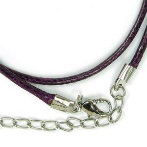 Готовые основы хлопковый шнур в полиэстеровой оплетке, ярко-фиолетовый