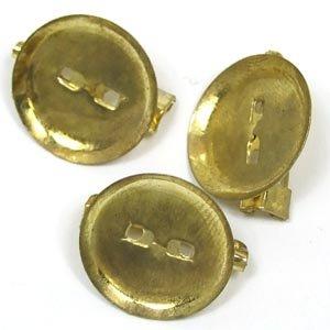 Основа для броши круглая клеевая, золото, 20 мм