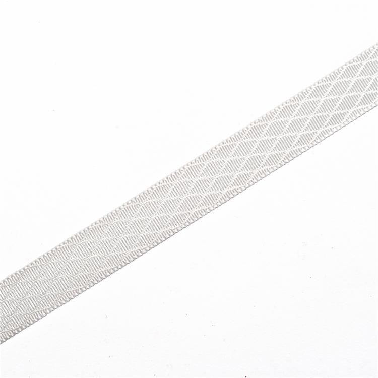 Стрічка атласна 10 мм ромбовидна сіра