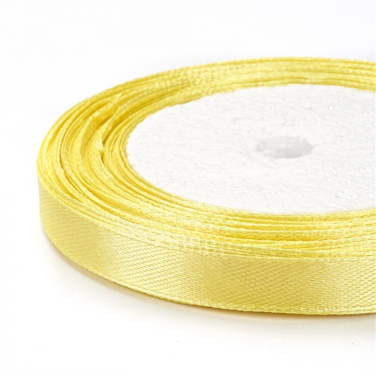 Стрічка атласна 10 мм жовта